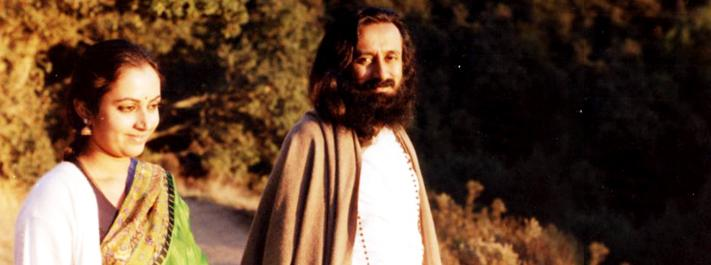 Gurudev and Bhanu Didi