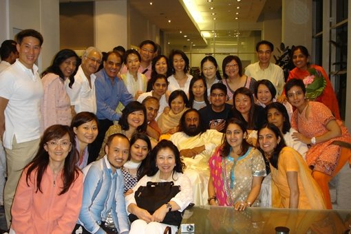 Hong Kong Art of Living Family with Sri Sri Ravi Shankar
