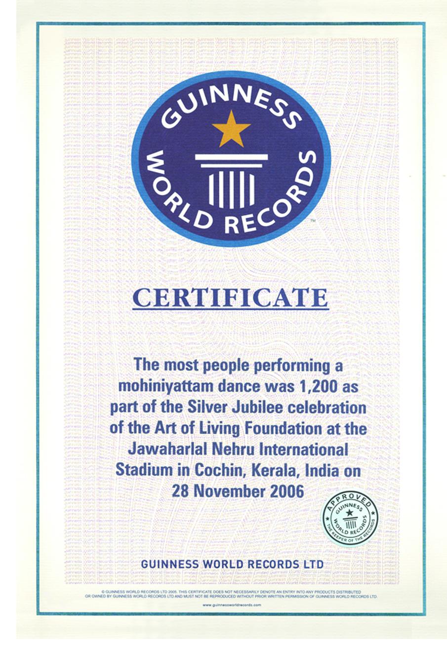 Guinness World Records | The Art Of Living Global
