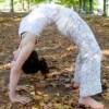 lying down body twist chakrasana