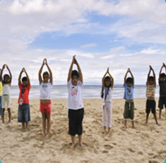 Children perform Yoga naturally