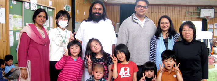 Breaths of joy after trauma releif programs at post-tsunami camps in Japan