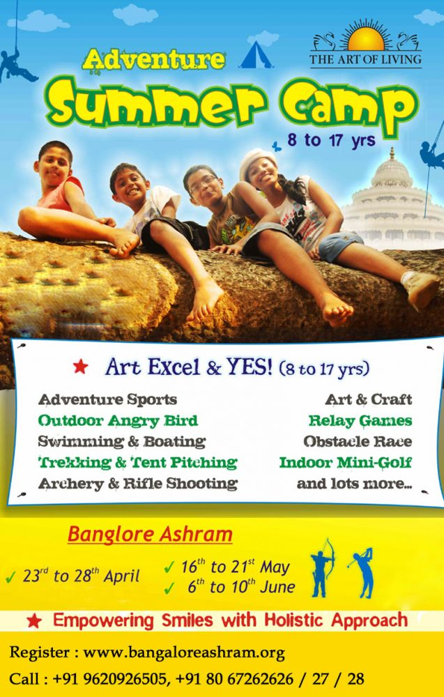 Adventure Summer Camp 2013 Art Of Living India
