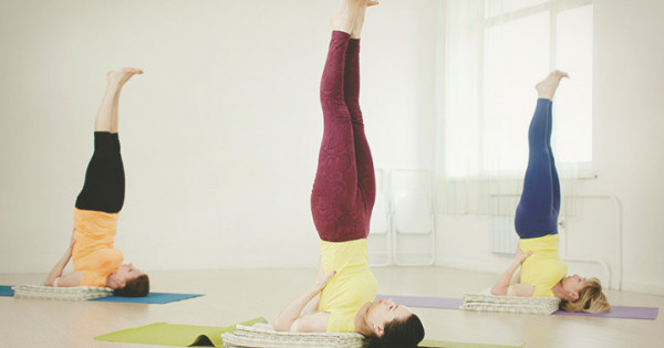 Yoga Article Sarvangasana Shoulder Stand The Art Of Living