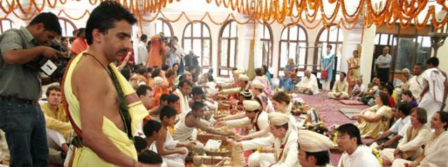 vedic wedding - The Art of Living Ashram