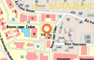 Karta 2019 Biznes Park Sofiya Karta