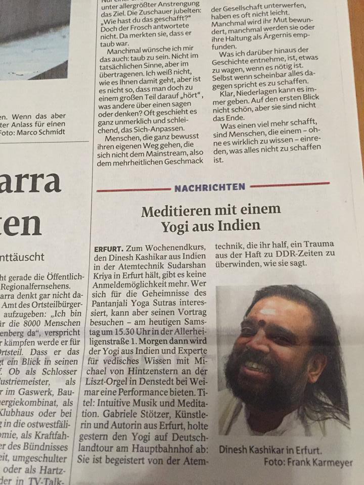Meditieren Mit Einem Yogi Aus Indien Die Kunst Des Lebens
