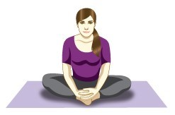 Badhakonasana (Butterfly pose) for seniors