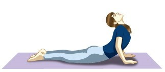 Bhujangasana (Cobra pose) yoga asana for seniors