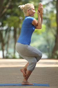 eagle pose  garudasana  yoga health benefits  sequence