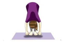 Hastapadasana (Standing forward bend pose) - preventive immunity boosting yoga move for cough & cold