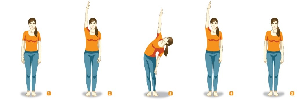 Konasana Standing Sideways Bending One Arm Yoga Asanas For Women During Pregnancy