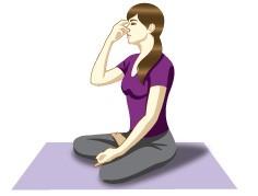 Nadi Shodhan (Alternate nostril breathing technique) - Preventive pranayama for cold, cough and sinus