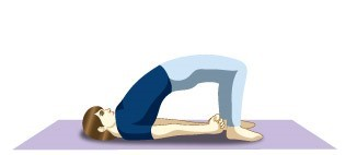 Setu Bandhasana (Bridge pose) - Immunity boosting yoga postures