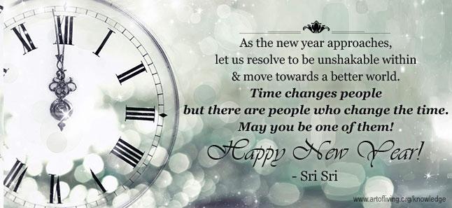 sri sri s new year message the art of living global