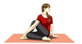 Sitting Half Spinal twist