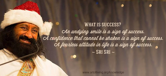 The True Sign Of Success The Art Of Living Global