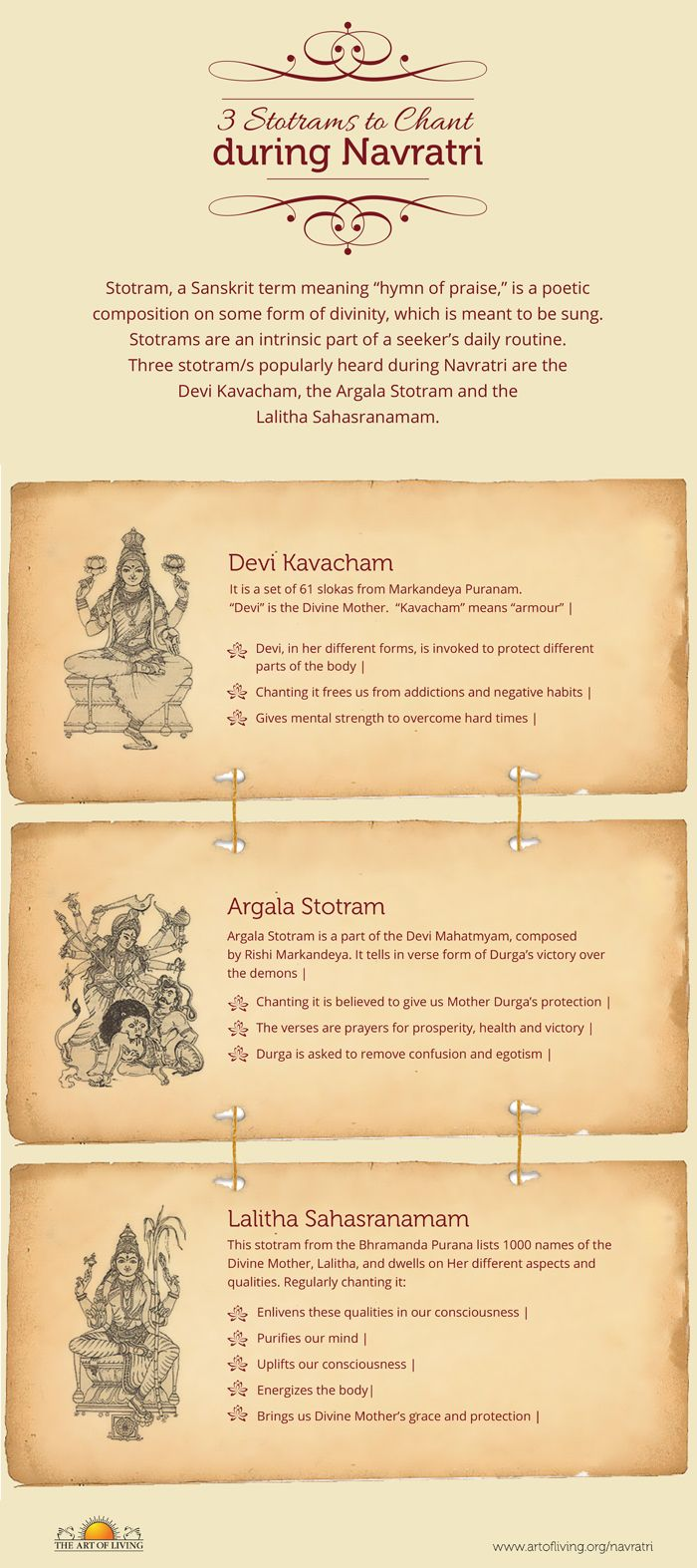 Three Stotrams to Chant during Navratri   The Art of Living