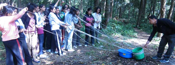 YES! Nepal Youth Adventure Camp participants ponder physics