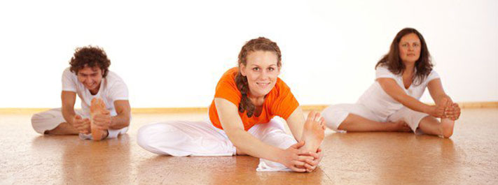 Yoga postures with a smile