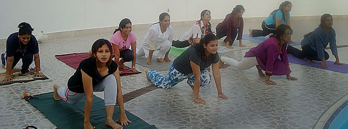 Yoga sessions in local communities